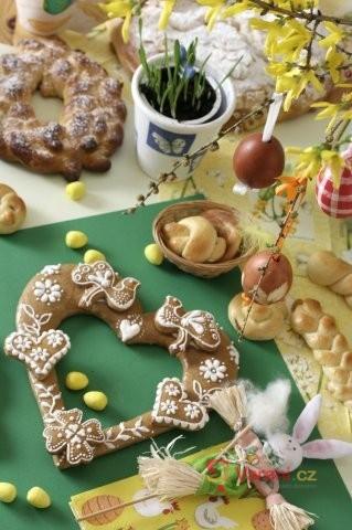 Velikonoční stůl našich babiček
