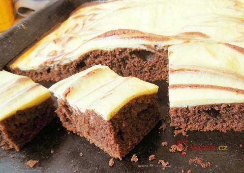 Recept na kakaové kostky s tvarohem krok za krokem