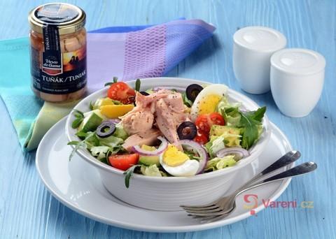 Recept na salát s tuňákem Vasco da Gama krok za krokem