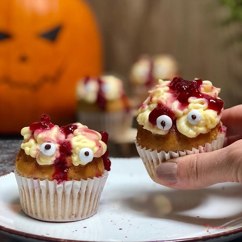 Halloweenské strašidelné sladké mozečky krok za krokem