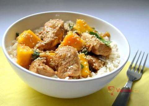 Recept na kuře s mangem krok za krokem