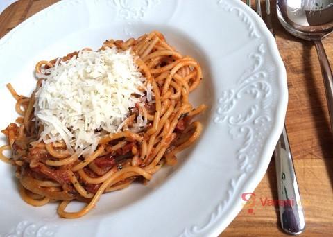 Recept na špagety chorizo krok za krokem