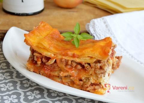 Recept na lasagne s mletým masem krok za krokem