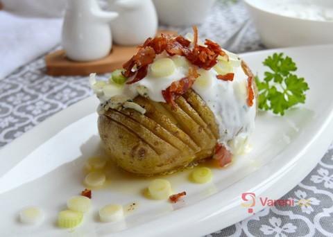 Recept na plněné pečené brambory krok za krokem