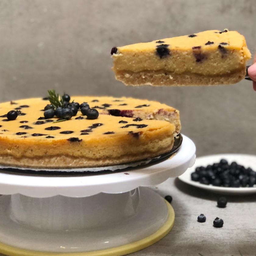 Borůvkový koláč s tofu krok za krokem