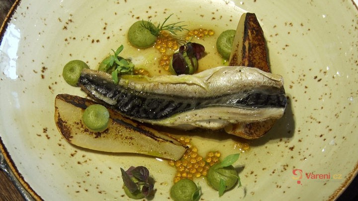 Jak se připravuje makrela v restauraci Mlýnec s výhledem na Karlův most?