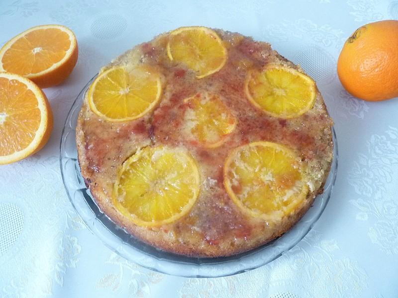 Recept na obrácený pomerančový koláč krok za krokem