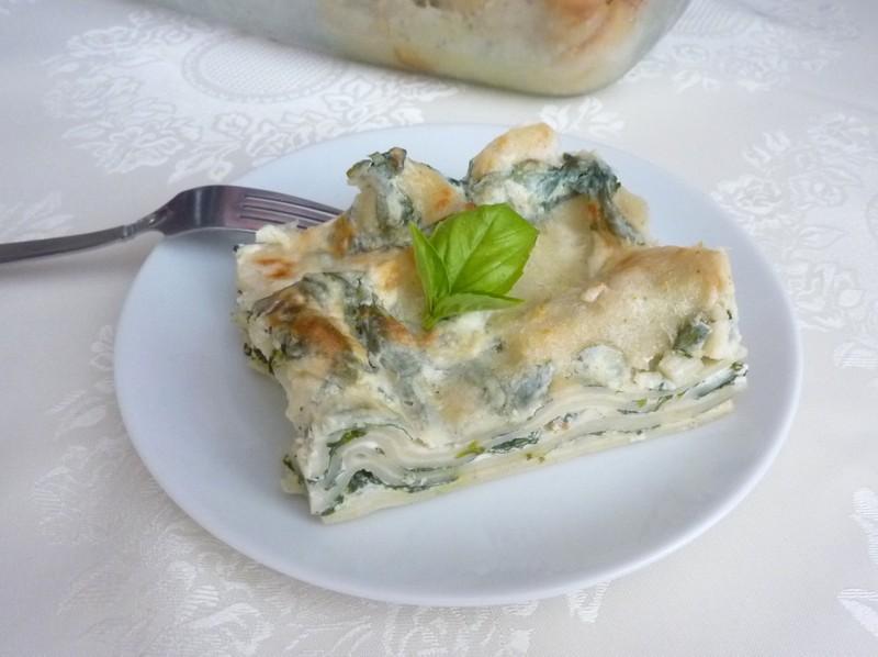 Recept na špenátové lasagne krok za krokem