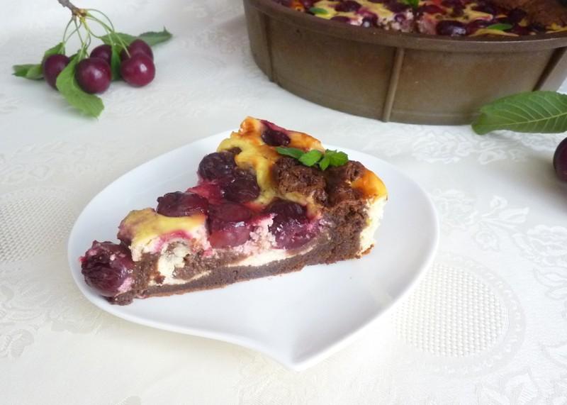 Recept na třešňový koláč dvou barev krok za krokem