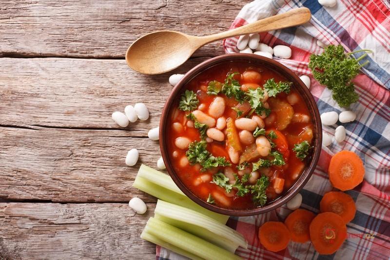 Videorecept Rajčatová polévka s fazolemi