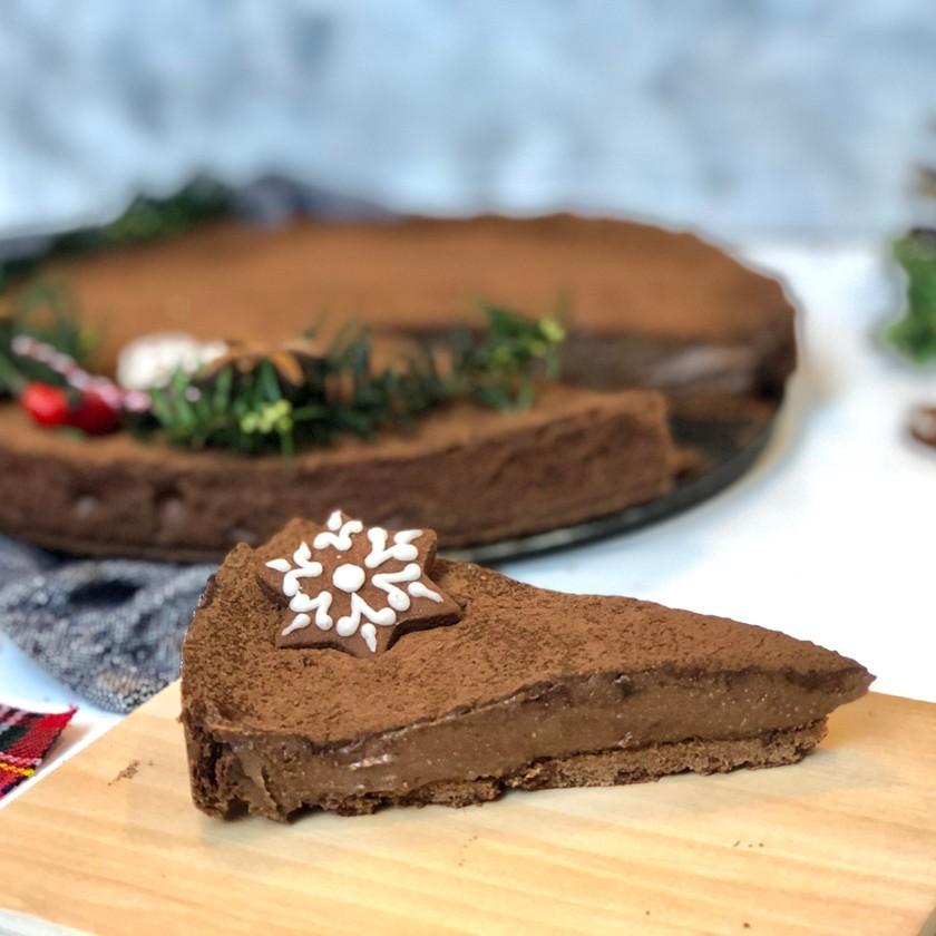 Vánoční čokoládový koláč krok za krokem