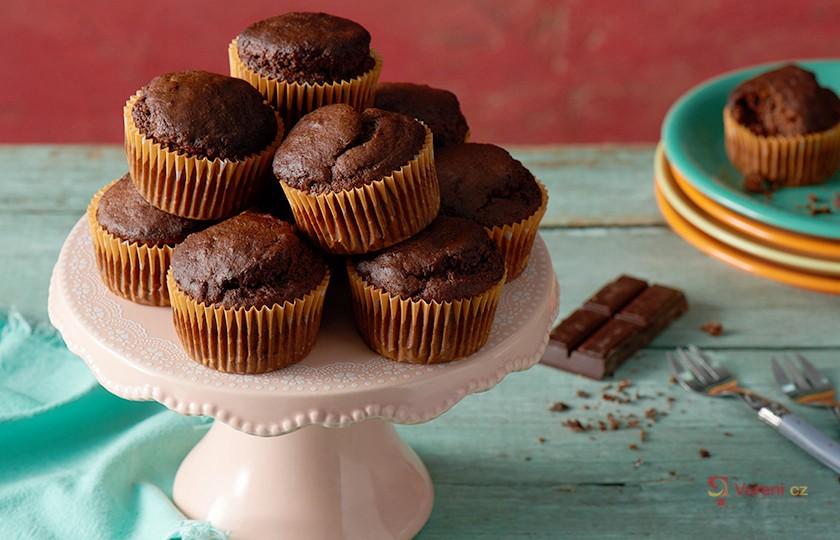 Čokoládové jednoduché muffiny