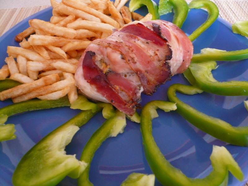 Kuřecí slaninové závitky