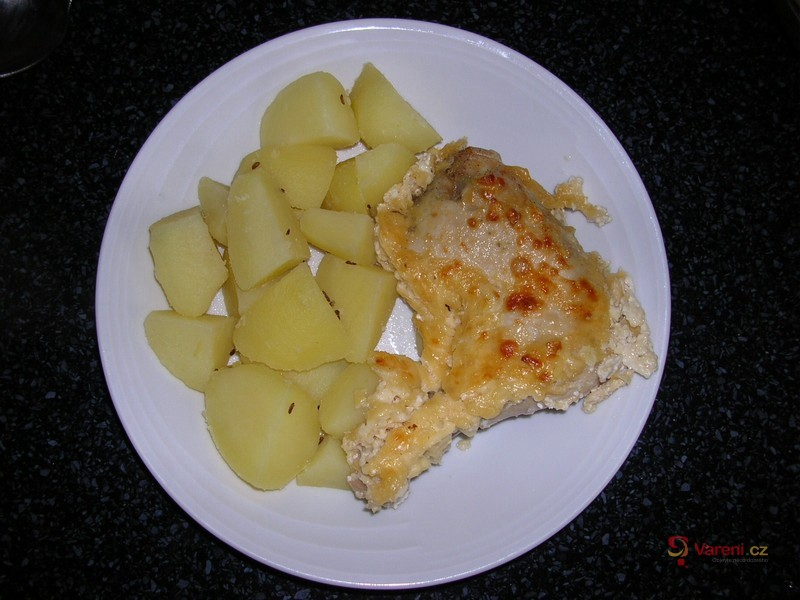 Kuře na česneku se sýrem