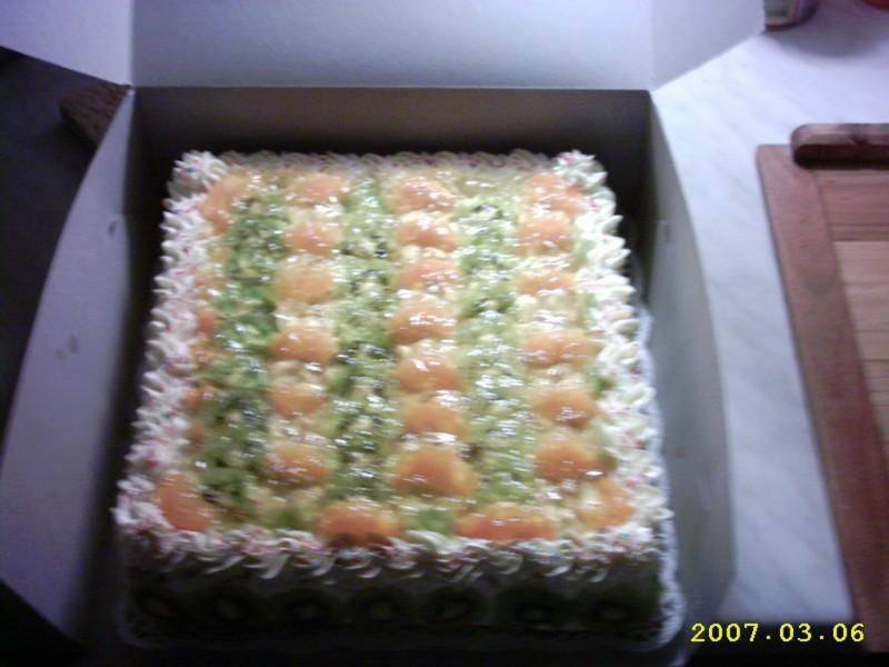 Řezy z  dortových oplatků