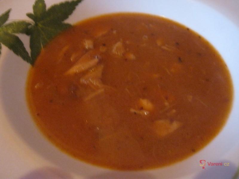 Dršťková polévka z kuřecího masa