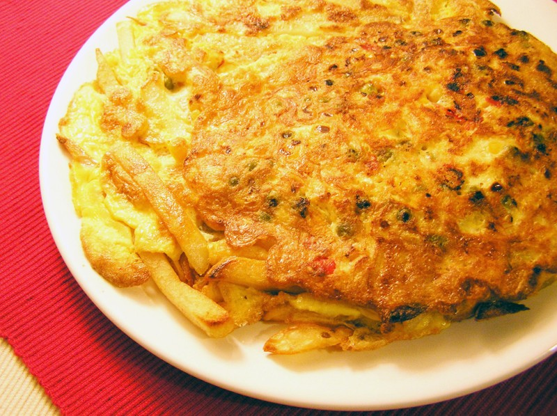 Selská omeleta se zeleninou