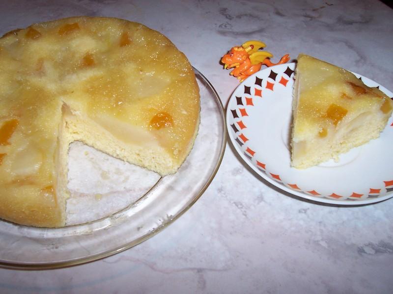 Obrácený koláč s medem