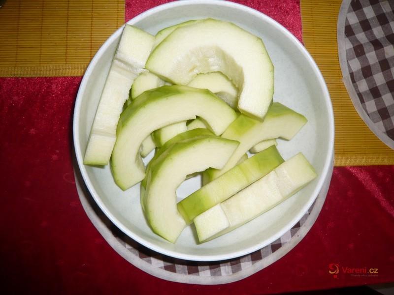 Cuketové bramboráky  se špenátem a hermelínem
