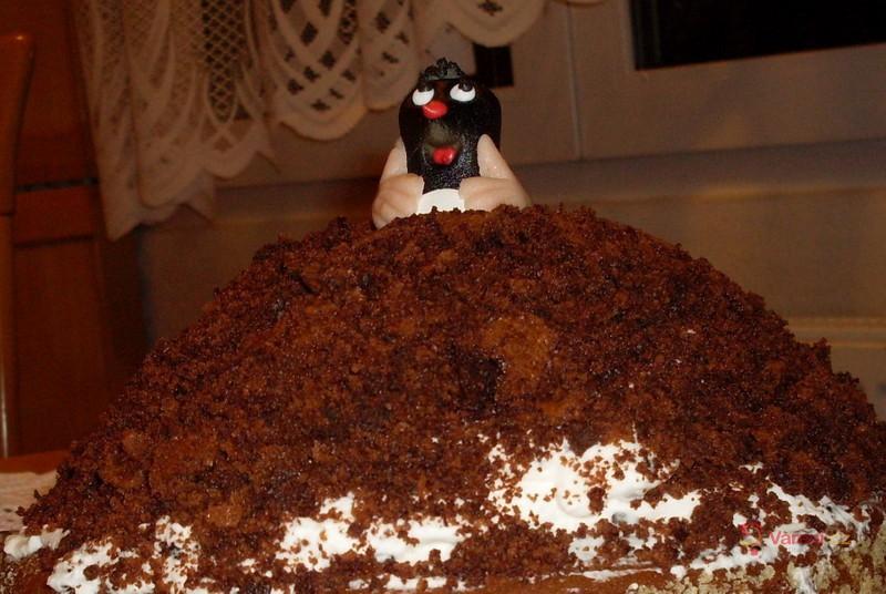 Smetanový krtkův dort