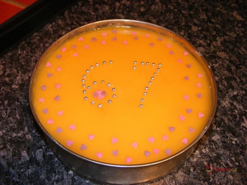 Ovocný nepečený dort