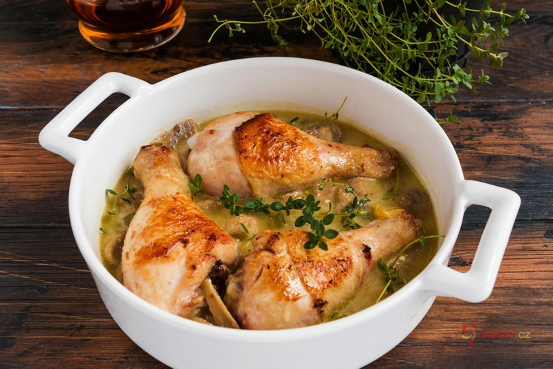 Kuře pečené s kysanou smetanou