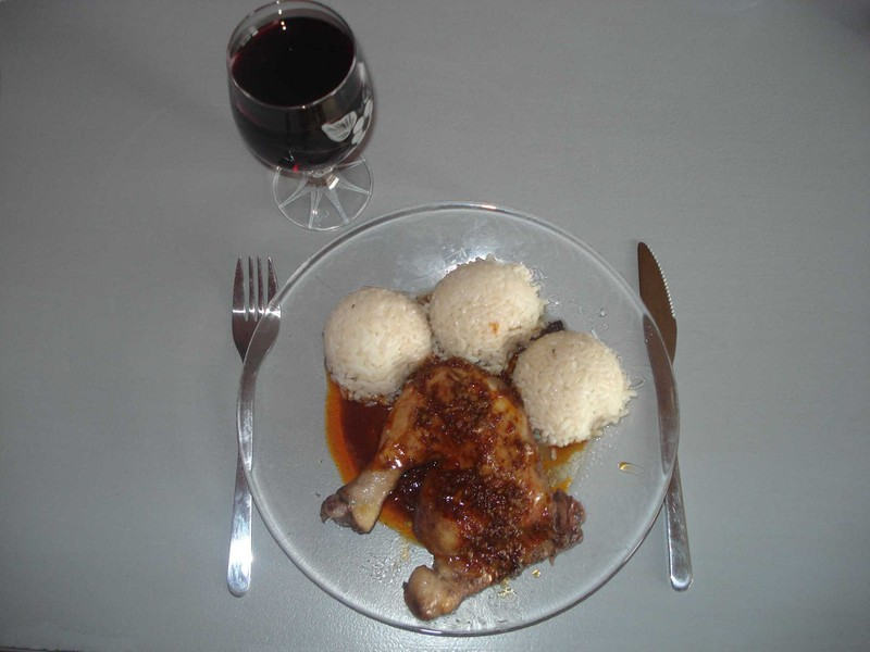Kuře v červeném víně