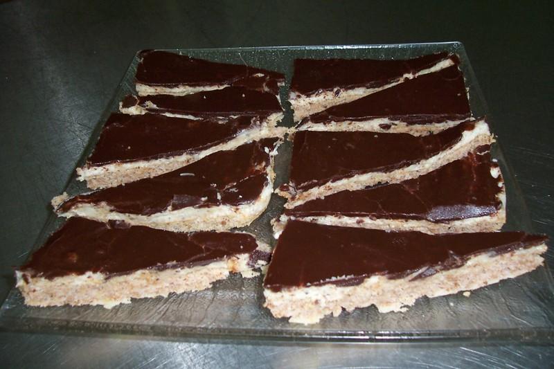Mandlové řezy s čokoládou
