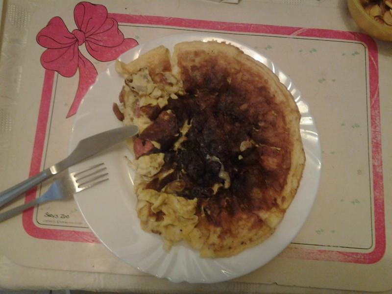 Vaječná omeleta s překvapením