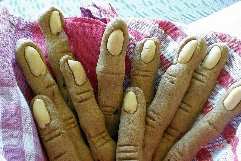 Halloweenské prsty