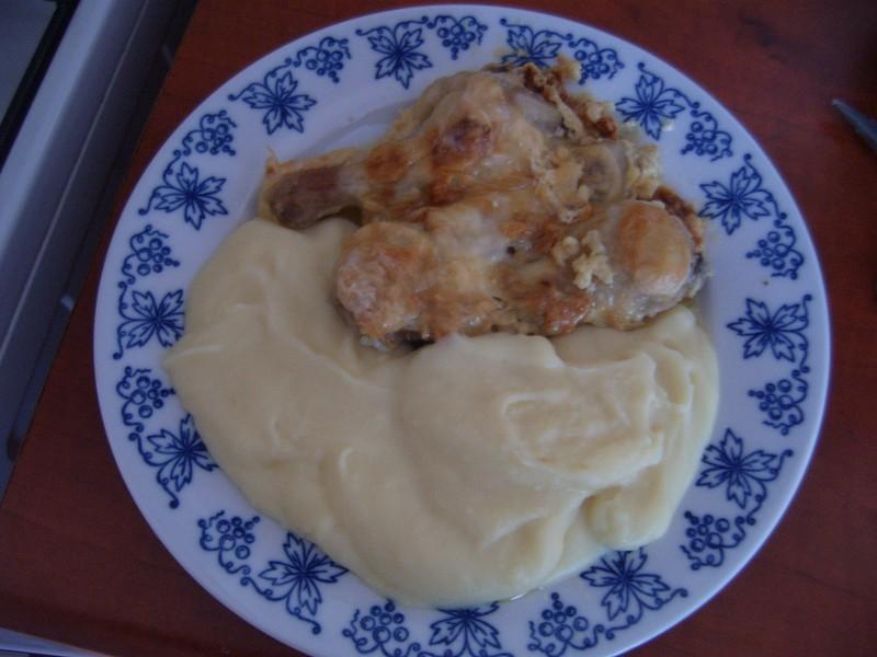 Česnekové kuře se sýrem