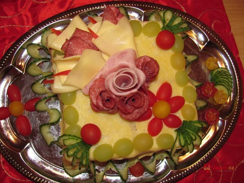 Slavnostní slaný dort