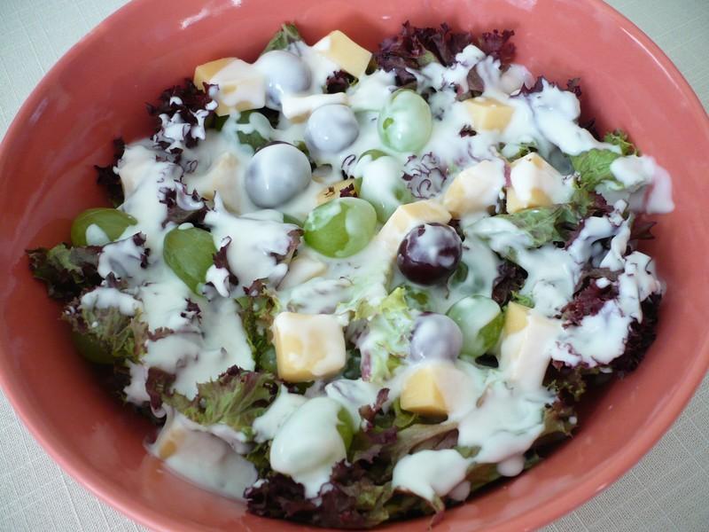 Kadeřavý salát  se sýrem