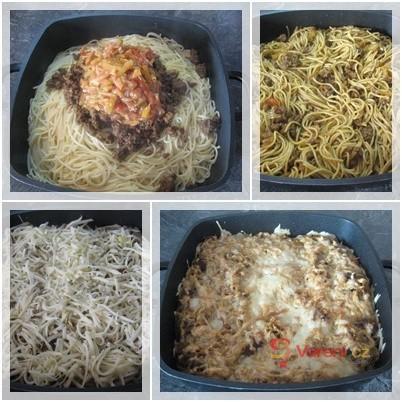 Zapečené kari špagety