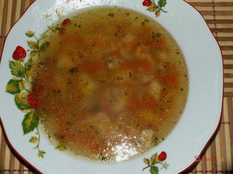 Falešná hovězí polévka se strouháním