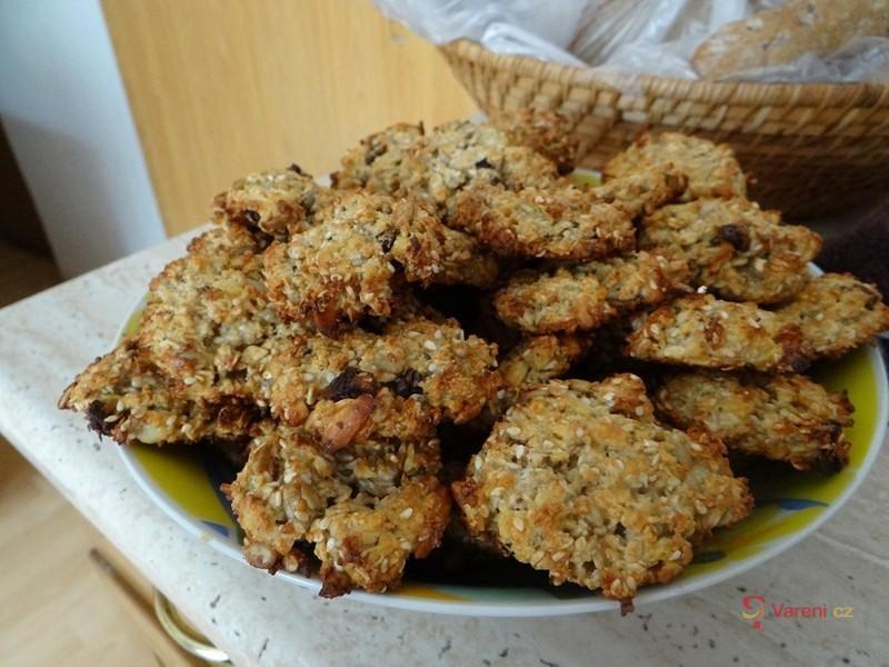 Ovesné sušenky bez másla a mouky