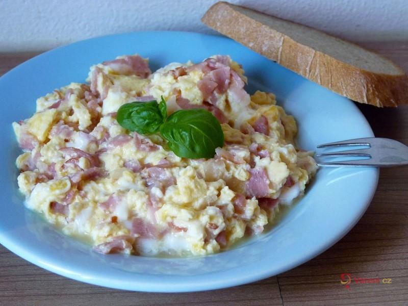 Míchaná vejce se smetanou