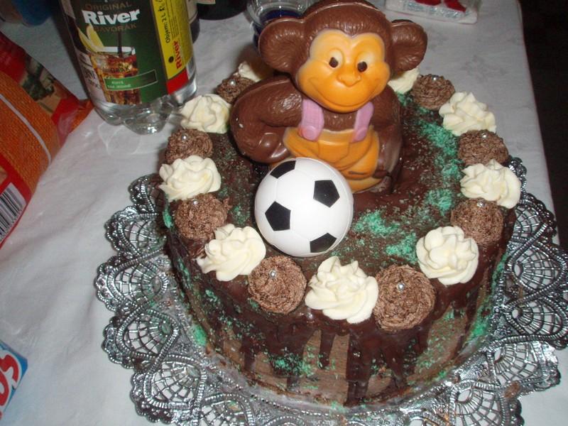Čokoládovo-ořechový dort