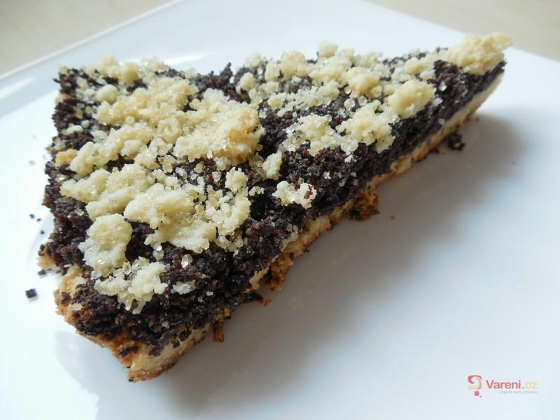 Makový drobenkový koláč