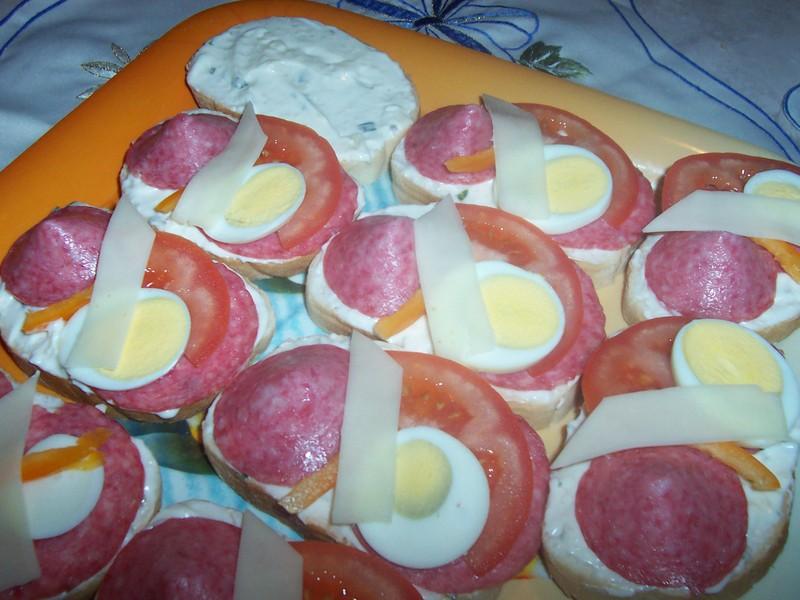 Chlebíčky s vajíčkovým salátem