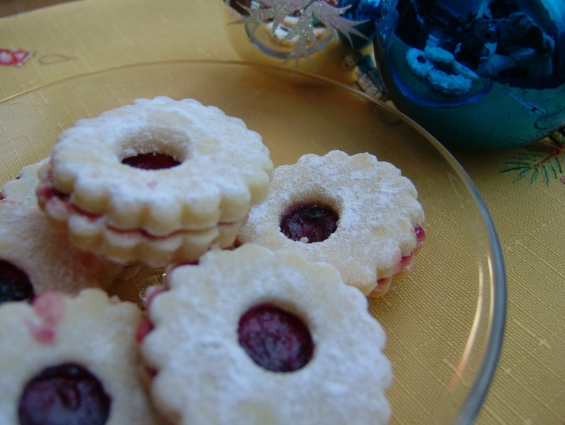 Linecké cukroví s vanilkou