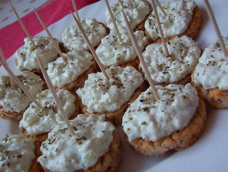 Racio jednohubky s mozzarella pomazánkou