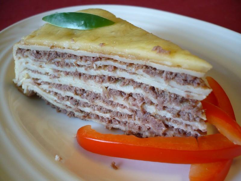 Palačinkový slaný dortík