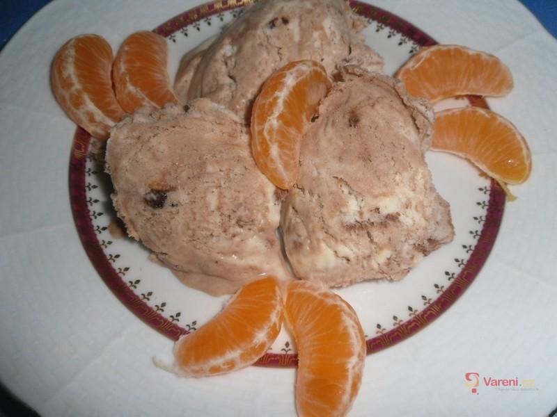 Domácí mramorová zmrzlina