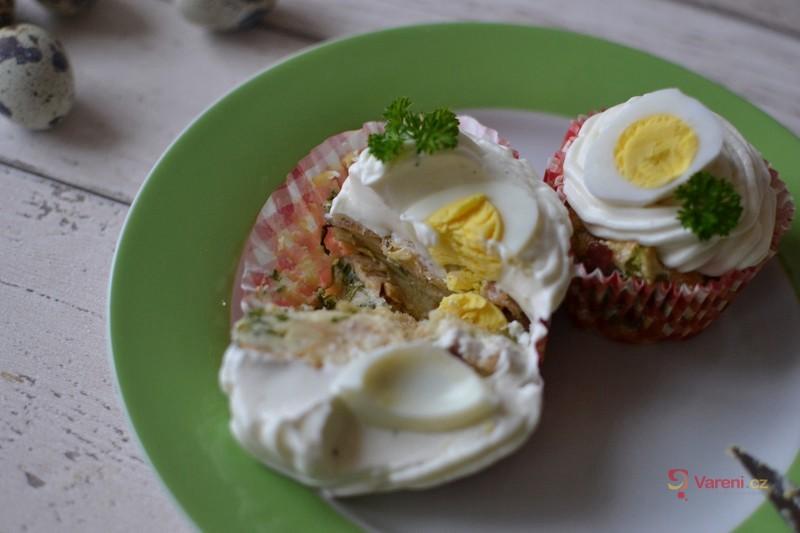 Slané velikonoční cupcakes