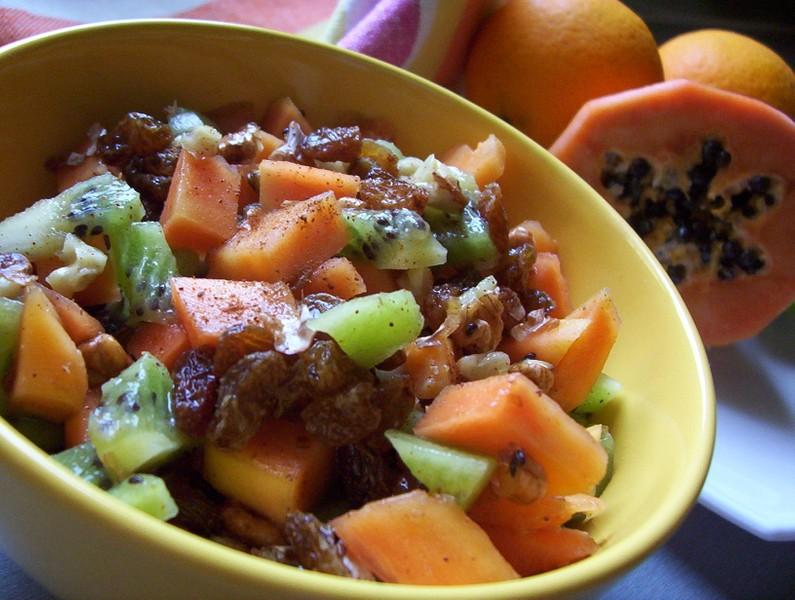 Ovocný salát s papájou