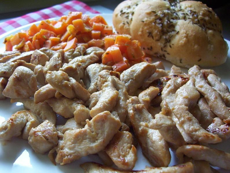 Marinované kuřecí nudličky