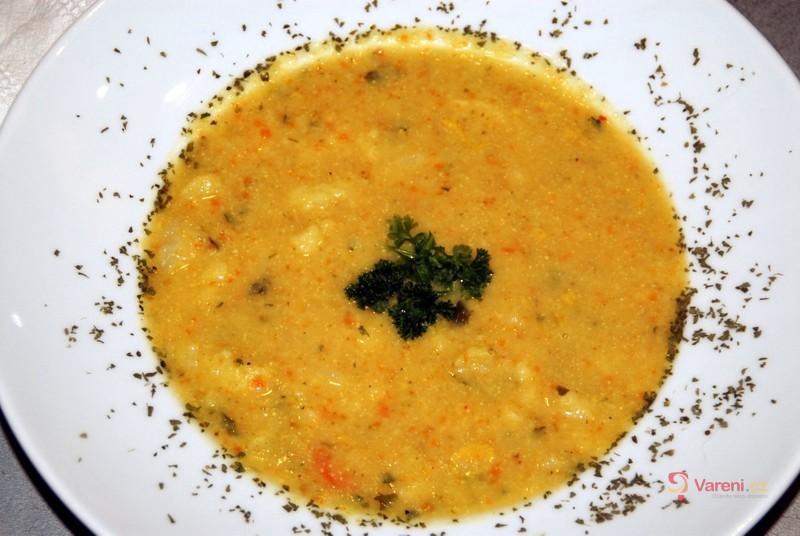 Hustá květáková polévka se smetanou