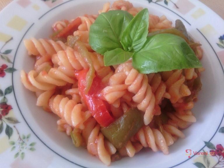 Těstoviny s paprikami