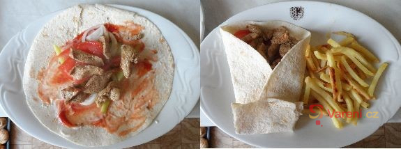 Kuřecí tortilla se zeleninou